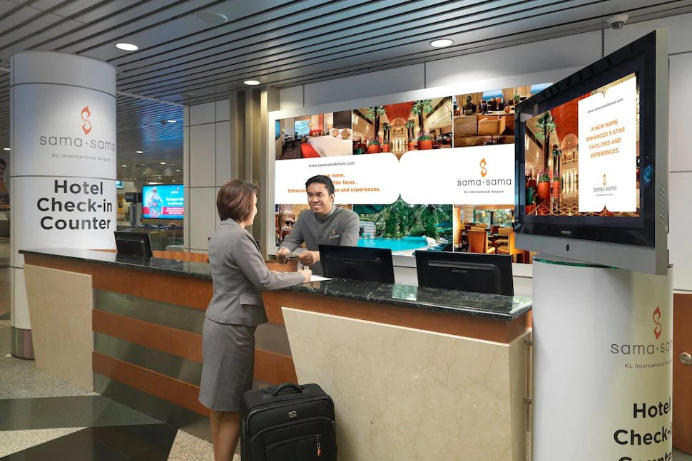 Hotel check-in at the KLIA's Arrival Hall