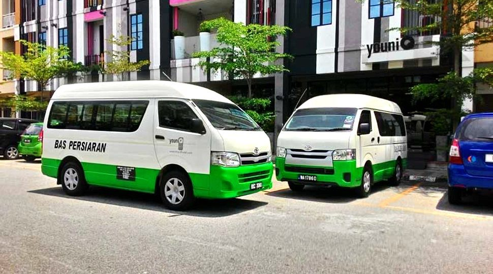 Shuttle bus for airport transfer