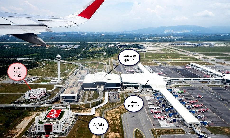 Aerial view of Tune Hotel klia2