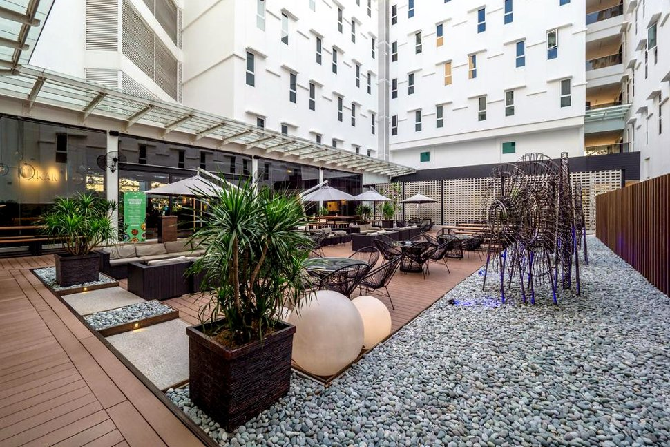 Chill out and relax at the courtyard