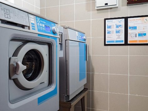 Coin-operated laundry machines