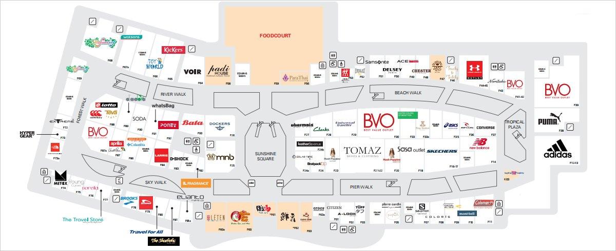 Directories of Stores - First Floor