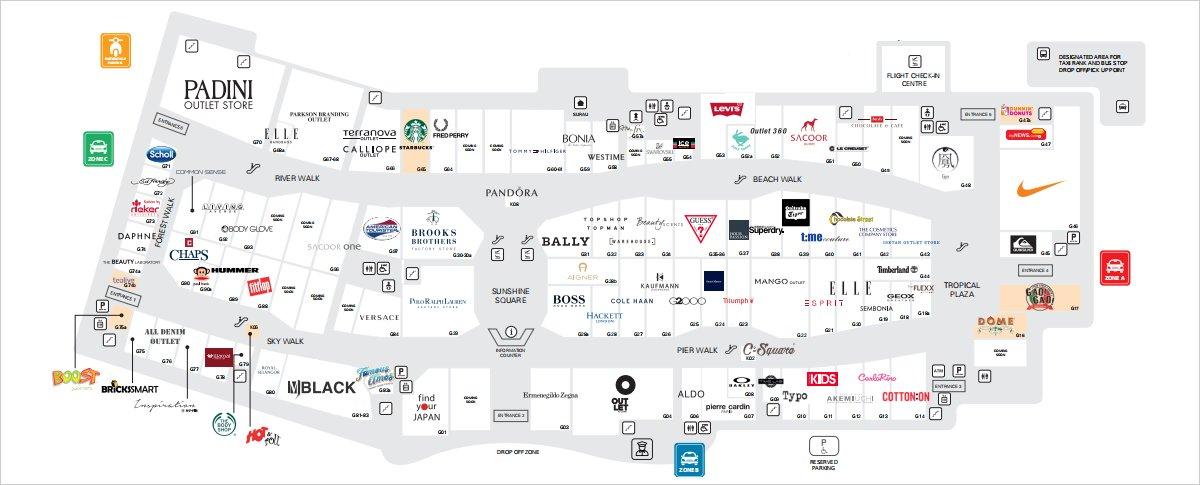 Directories of Stores - Ground Floor